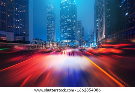 Motion speed effect in Hong Kong City