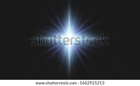 Light effect of a star, sparkles of light #1662925213