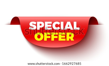 Special offer red sticker. Vector illustration. #1662927685