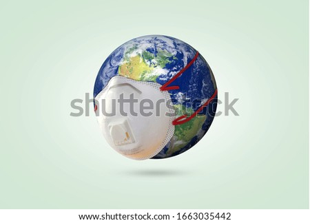world Corona virus attack concept. world/earth fight against Corona virus. Concept of fight against virus, danger and public health risk disease, isolated ,pollution, world pollution, COVID 19, virus Royalty-Free Stock Photo #1663035442