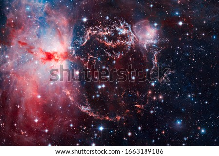 Awesome space background. Elements of this image furnished by NASA. #1663189186