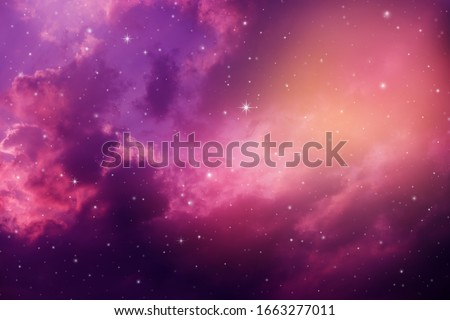Space of night sky with cloud and stars. Royalty-Free Stock Photo #1663277011