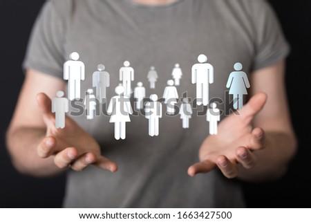 Social Networking illustration team group #1663427500