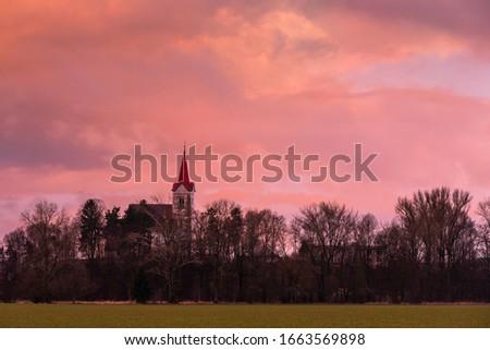 Church in a village of Turiec region, Slovakia. #1663569898