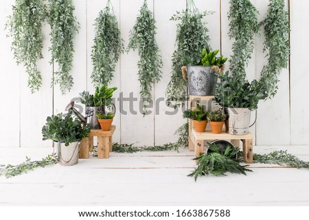 Garden backdrop for photosession. Garden background. Backdrop for baby sitter session. Royalty-Free Stock Photo #1663867588