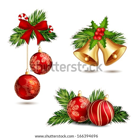 Christmas decoration isolated on white Royalty-Free Stock Photo #166394696