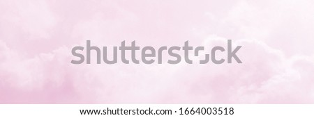 Pink sky and purple bright fantasy abstract. Beautiful summer sunlight with clound scape colorful. for blackdrop clear cloud color day for wallpaper backdrop background.  #1664003518