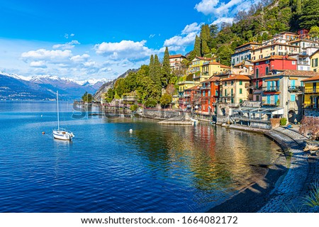 Varenna Town lakeside view in Italy #1664082172