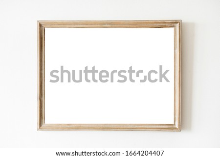 Isolated Frame on white background.