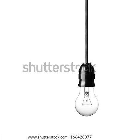 Light bulb isolated on white background Royalty-Free Stock Photo #166428077