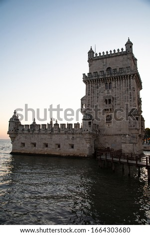 Castle in Lisbon Portugal. Picture of castle