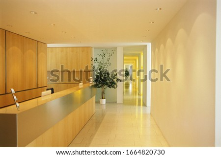 View of empty office area #1664820730