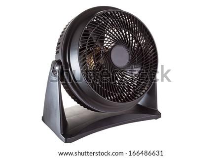 Black motor fan isolated on white #166486631