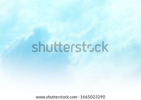 Blue sky with white cloud. Blue background. The summer sky is colorful clearing day and beautiful nature in the morning. for backdrop decorative and wallpaper design. The perfect sky background. #1665023290