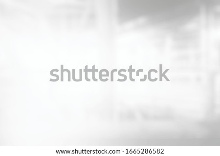 Abstract White Blurred Ropeway Corridor Background.