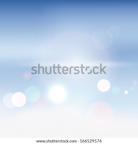Abstract background blurry lights. Vector illustration.
