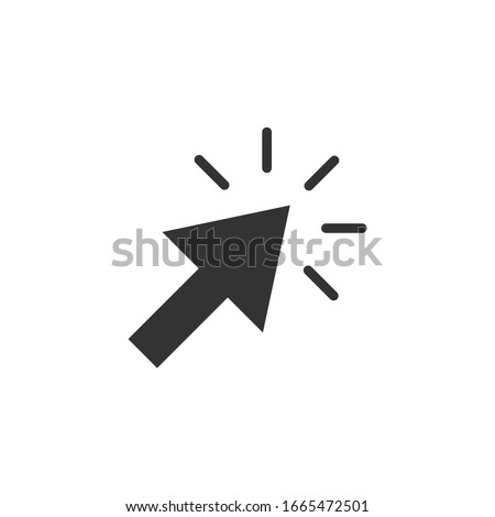 Mouse cursor simple icon pointer sign vector #1665472501