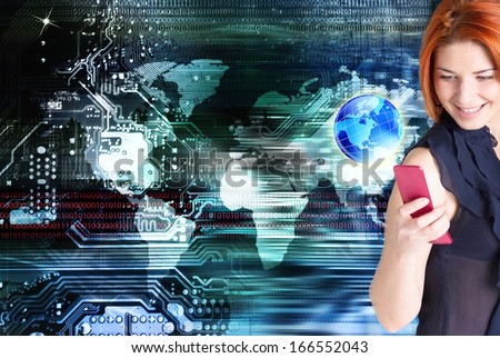 Connect technology.Internet #166552043