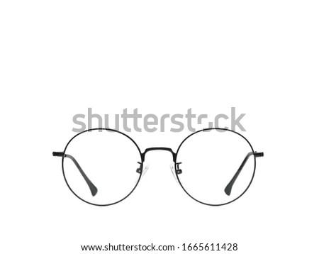 Eye glasses isolated on white background black modern #1665611428