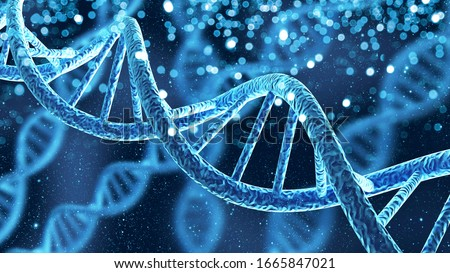 DNA gene helix spiral molecule structure Royalty-Free Stock Photo #1665847021