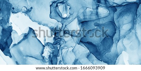 Blue Abstract. Ocean color and White color Divorce. Ice Background Tone. Water Ink Marble. Aquamarine Pigment Aquarelle paint. Alcohol Ink Dirty. Alcohol Abstract.