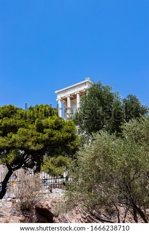 The Temple of Athena. It is a temple on the Acropolis of Athens, dedicated to the goddess Athena #1666238710