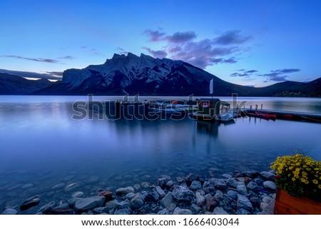 Lake Minnewanka Banff, Alberta Kanada travel destination #1666403044