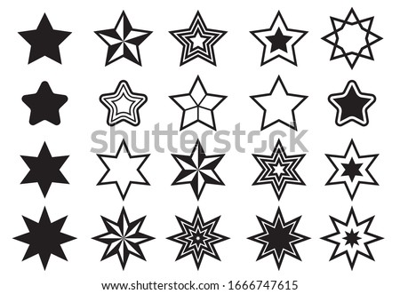 Star icon vector. Shining star. Abstract Falling Star. On white background.  #1666747615