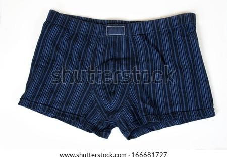 Blue striped boxer shorts underwear  #166681727