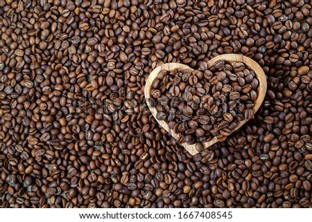 Coffee beans in various stories #1667408545
