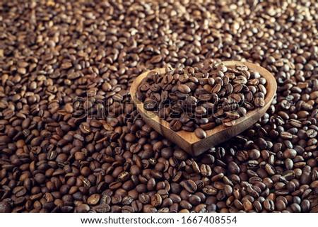 Coffee beans in various stories #1667408554