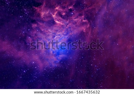 Beautiful space background with nebulae and stars. Elements of this image were furnished by NASA.