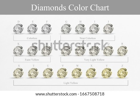 Diamond color chart for knowledge  Royalty-Free Stock Photo #1667508718