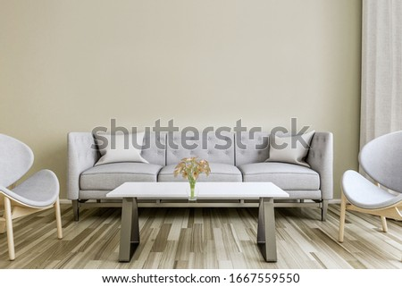 light white wall chair stylish and bright retro interior with design chair and standing next to a small table with a book and a plant on it in a day room interior #1667559550