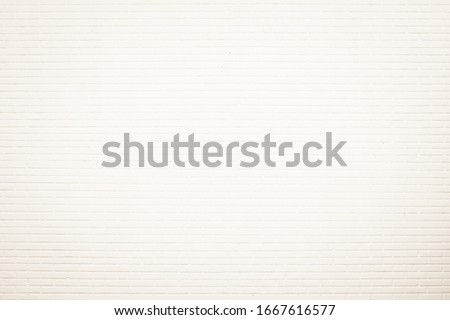 Wall cream brick wall texture background in room at subway. Brickwork stonework interior, rock old clean concrete grid uneven abstract weathered bricks tile design, horizontal architecture wallpaper. #1667616577