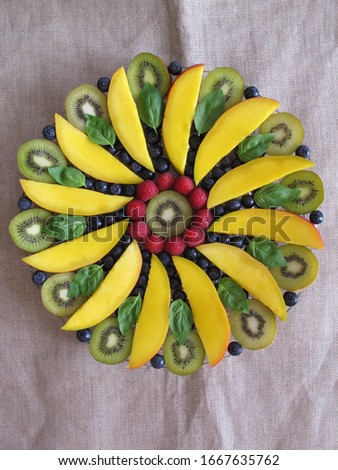Most beautiful mandala fruit on the plate. #1667635762