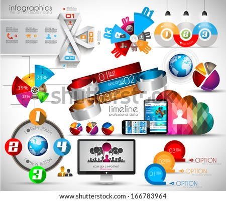 Mega Collection of quality Infographics objects . A lot of different templates ready to display your data.