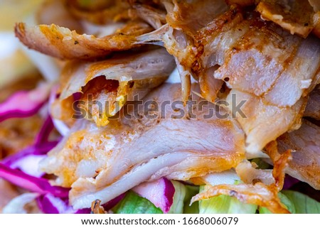 Doner turkish delight made out of chicken meat #1668006079