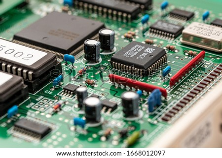 The electronic board which is equipped with by a PC #1668012097