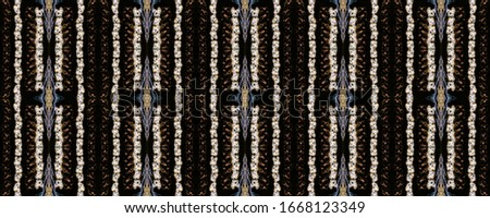Seamless Ethnic Ornament. Wicker Embroidery Brown Print. Norwegian Relief. Shabby Strips Embroidery. Wicker Ukrainian Spinning. Slavic Old Picture. #1668123349