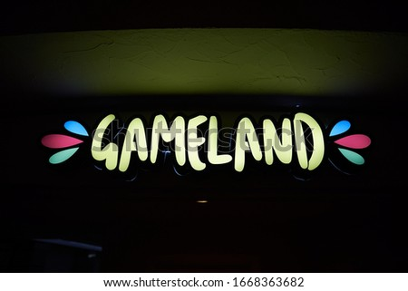 channel letters bowling game miniclub arcade sign led