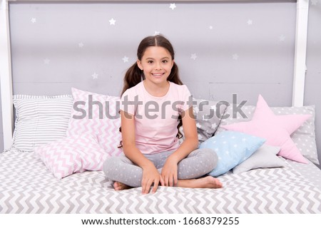 Feeling relaxed in pajamas. Little child wear pajamas to bed. Sleepwear and pajamas for kids. Home clothing. Nightwear. Bedtime routine. Fashion and style. Get your coziest sleep in stylish pajamas. #1668379255