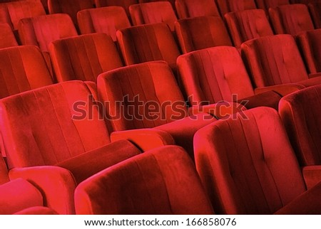 Red armchairs in theater #166858076