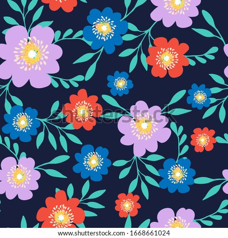 Modern Aesthetic Floral Background. Hand Drawn Organic Shapes. Good for  Card, Banner, Cover, Poster, Flyer, Brochure. Raster copy. #1668661024