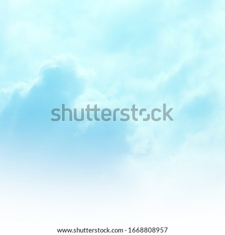 Blue sky with white cloud. Blue background. The summer sky is colorful clearing day and beautiful nature in the morning. for backdrop decorative and wallpaper design. The perfect sky background. #1668808957