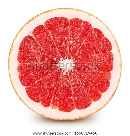 Grapefruit. Fresh organic grapefruit isolated on white background. Grapefruit macro #1668919450