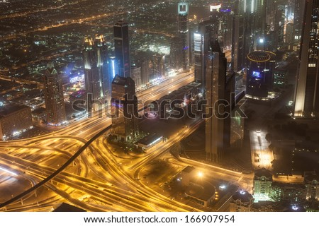 Wonderful Dubai cityscape, aerial view. Soft focus! #166907954