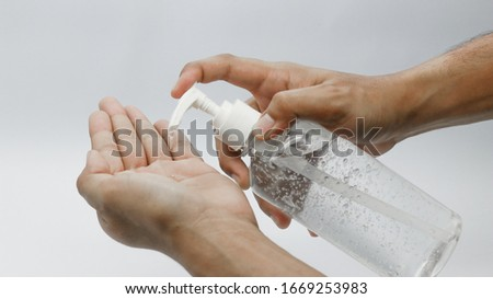Disinfectant gel for hand cleaning, preventing Covid 19 infection #1669253983