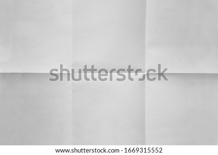 White paper folded in six fraction background Royalty-Free Stock Photo #1669315552