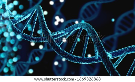 Blue helix human DNA structure #1669326868